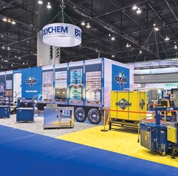 Polychem's stand at the PackExpo 2016